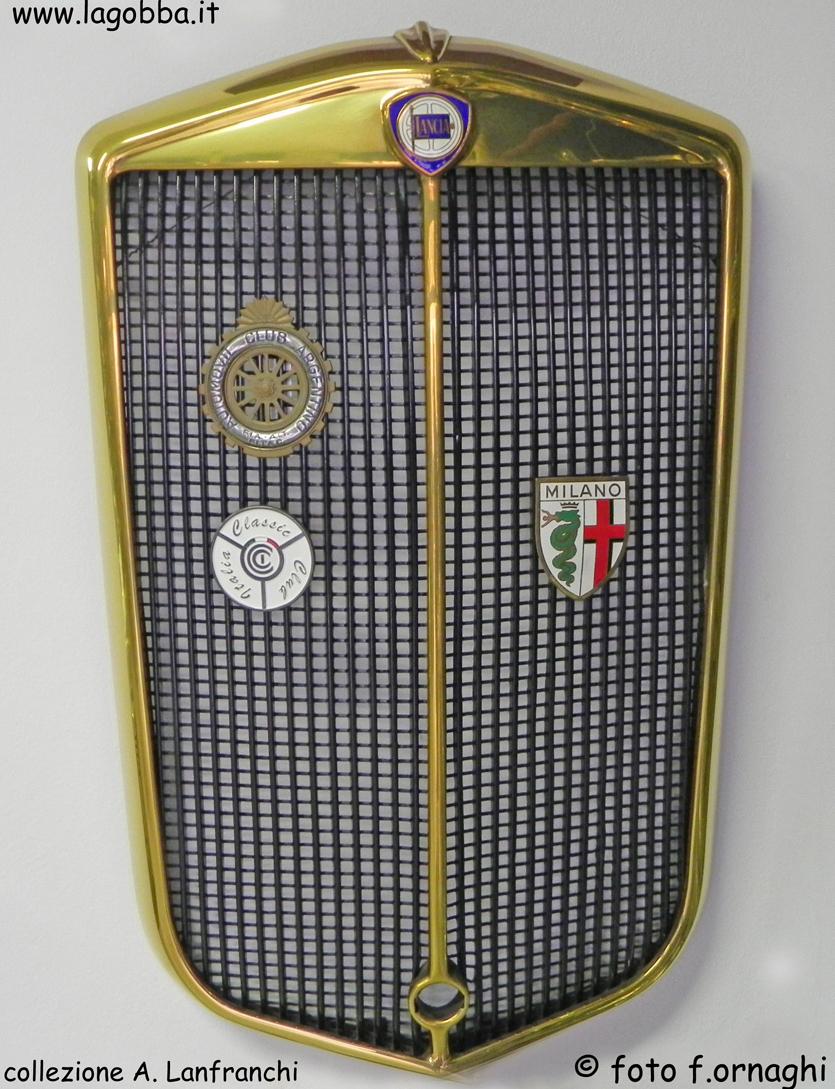 calandra di una Lancia Aprilia, anno 1938.