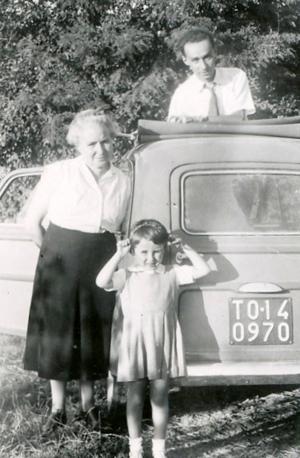 PM, Ester Luzzati figlia Lisa 1952 1