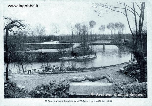 Il ponte del Lupo in una cartolina degli anni '30
