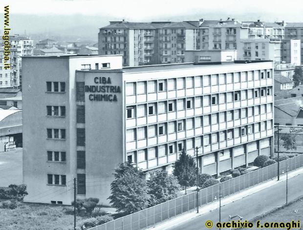 L'dificio della CIBA lungo via Palmanova negli anni '70