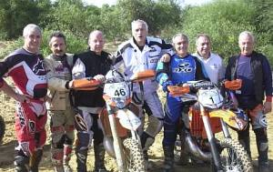Campioni di ieri alla 2° Enduro Carhage del 2010
